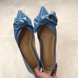 Anthropologie Vicenza Dorsay Bow Flats Size US 7